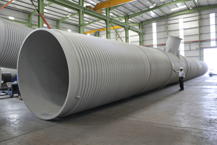 HDPE & PP Gravity structured wall pipes